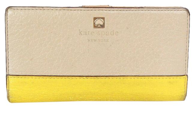 Item - Tan & Yellow Spencer Leather Bifold*** Wallet