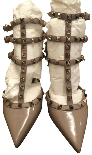 Item - Polished Nude Rockstud 65 Pumps Boots/Booties Size EU 38 (Approx. US 8) Wide (C, D)