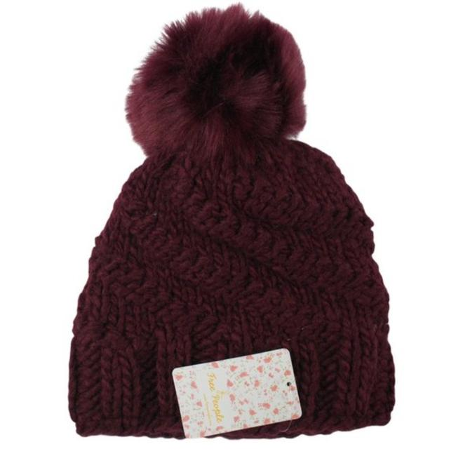 Item - Red Pinnacle Pom Beanie (One Size) Hat