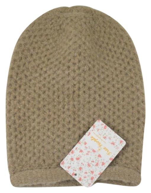 Item - Tan White Taupe Dreamland Beanie (One Size) Hat