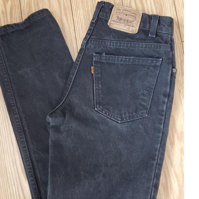 Item - Black Dark Rinse Student Fit/ Orange Tab/ Vintage Straight Leg Jeans Size 27 (4, S)