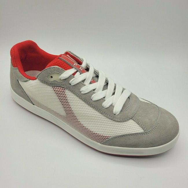 Item - Gray Suede White Mesh Red Trim Sneakers Uk 9/ Us 10 4e2501 Shoes