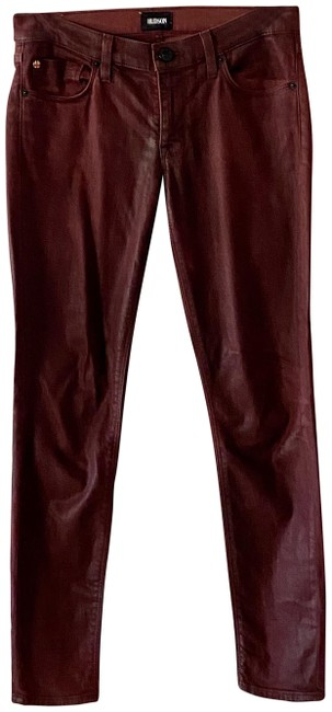 Item - Maroon Medium Wash Ankle Krista Coated Skinny Jeans Size 27 (4, S)