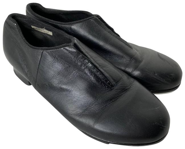 Item - Black Women's Leather Tap Flats Size US 9.5 Regular (M, B)