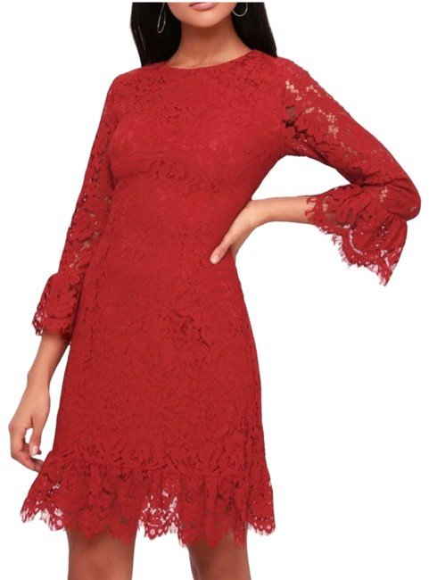 Item - Red XS New Flaire-est Of Them Cocktail Dress Size 0 (XS)