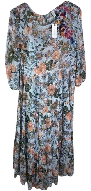 Item - Blue/Grey XS Meadow Rue Womens Floral New Long Casual Maxi Dress Size 2 (XS)