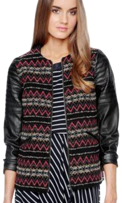 Item - Pink Trinity Vegan Faux Tribal Aztec Embroidered Jacket Size 8 (M)