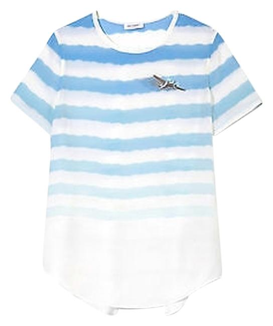 Equipment Riley Tee T Shirt White/Blue
