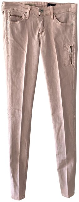 Item - Pink Light Wash The Taxi Zip Pocket Skinny Jeans Size 24 (0, XS)