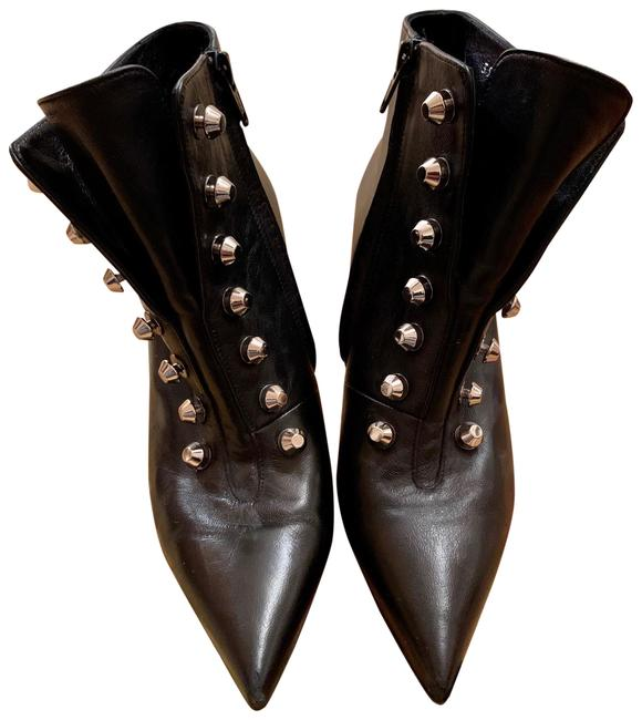 Item - Black Leather Studded Boots/Booties Size US 7 Regular (M, B)