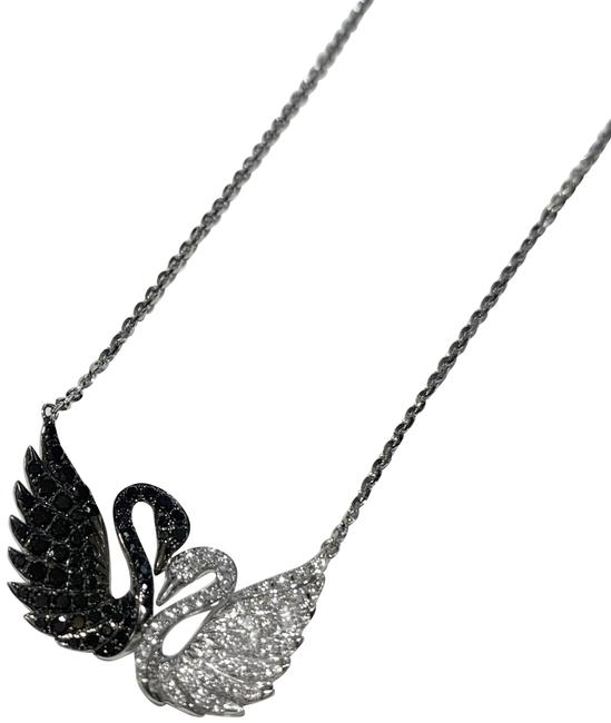 Item - Double Swans White Gold Necklace