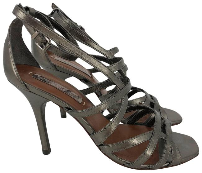 Item - Silver Strappy Pewter Sandals Size US 7.5 Regular (M, B)