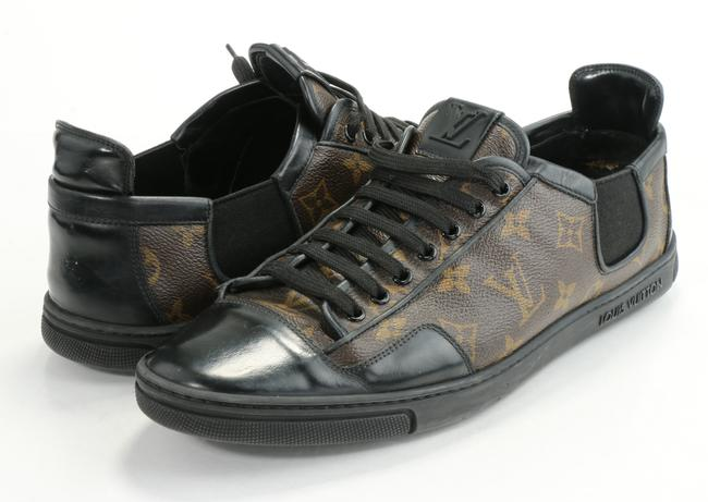 Item - Brown/Black Slalom Monogram Canvas Sneakers Shoes