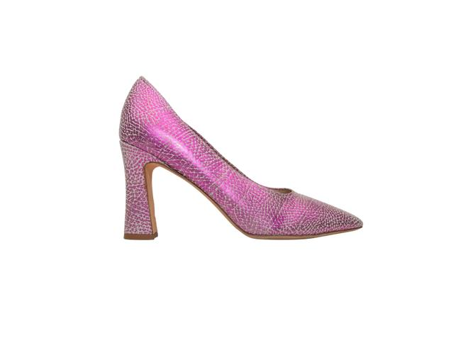 Item - Pink & Grey Metallic Crackle Pumps Size EU 40 (Approx. US 10) Regular (M, B)