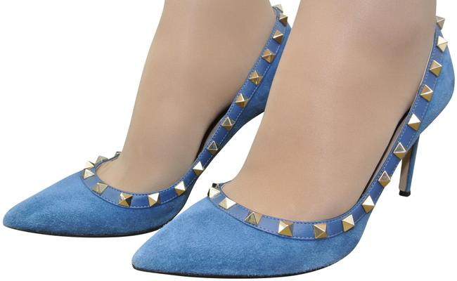 Item - Blue Rockstud Pumps Size EU 37 (Approx. US 7) Regular (M, B)