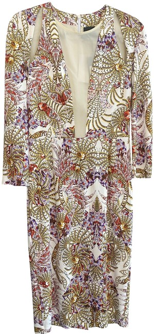 Item - Multi-color Floral Print Style# S02ct044 Mid-length Night Out Dress Size 8 (M)