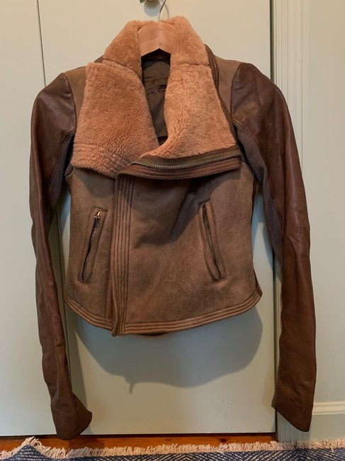 Rick Owens Brown Distressed Leather Jacket Size 0 (XS) Rick Owens Brown Distressed Leather Jacket Size 0 (XS) Image 2