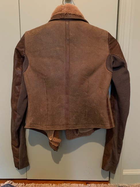 Rick Owens Brown Distressed Leather Jacket Size 0 (XS) Rick Owens Brown Distressed Leather Jacket Size 0 (XS) Image 3