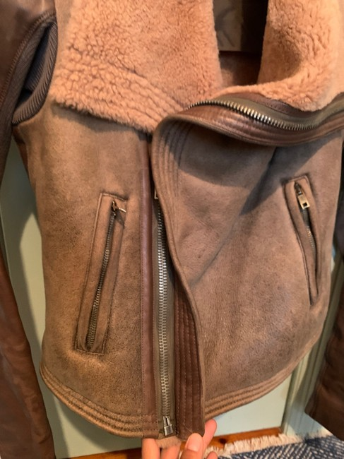 Rick Owens Brown Distressed Leather Jacket Size 0 (XS) Rick Owens Brown Distressed Leather Jacket Size 0 (XS) Image 4