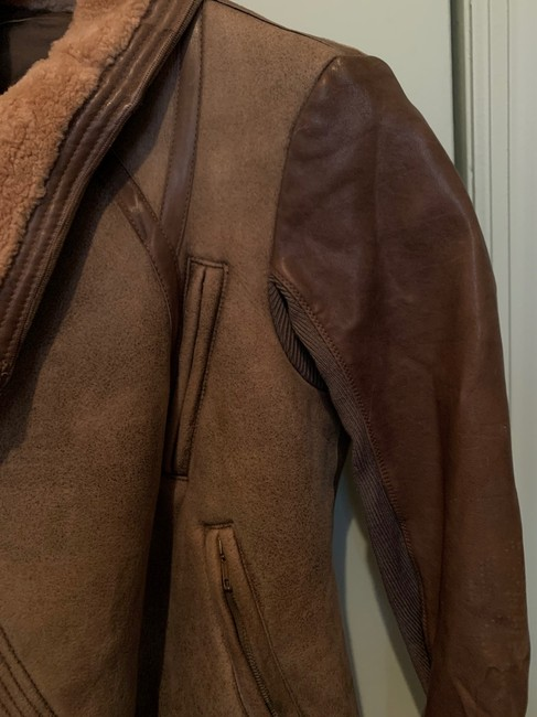 Rick Owens Brown Distressed Leather Jacket Size 0 (XS) Rick Owens Brown Distressed Leather Jacket Size 0 (XS) Image 5