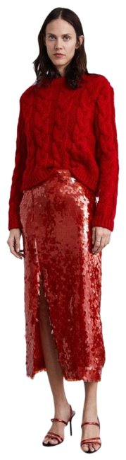 Item - Red Sequin Skirt Size 0 (XS, 25)