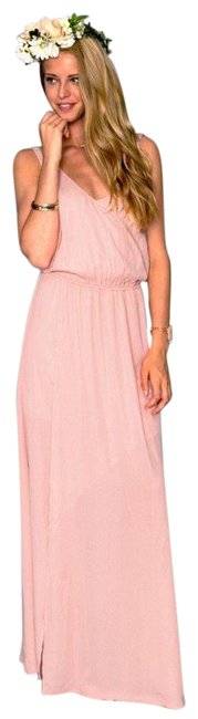 Item - Pink Kendall Soft Maxi Frosty Gown Long Cocktail Dress Size 2 (XS)