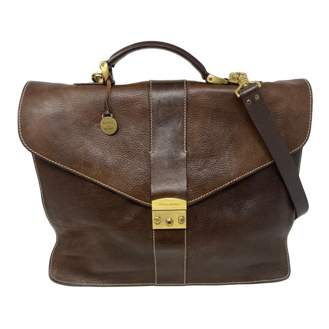 Item - Organizer Computer Brown Italian Leather Laptop Bag