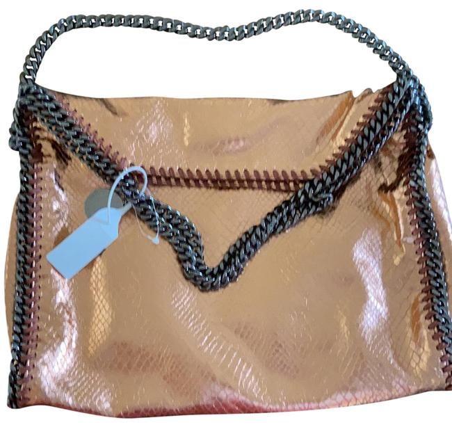 Item - Falabella Snakeskin Tote Copper Gold Faux Python Effect Clutch