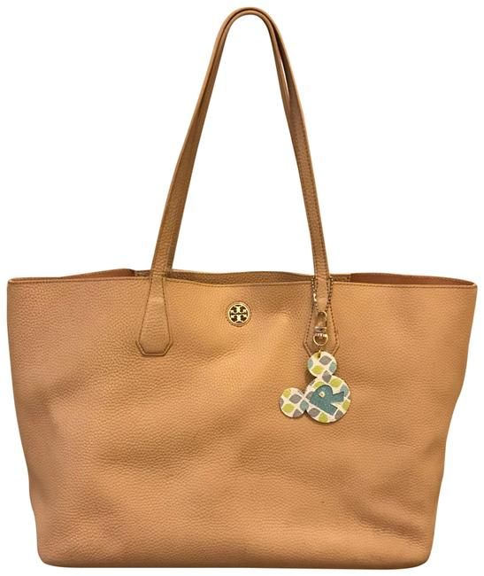 Item - Perry Pebbled Cream Leather Tote