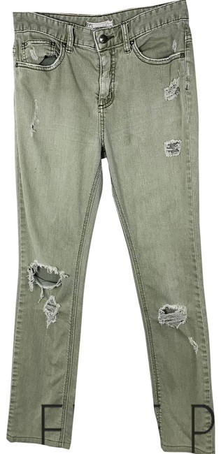 Item - Green Distressed Skinny Jeans Size 27 (4, S)