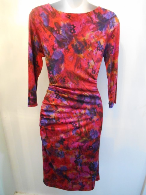 ERDEM short dress Red Multicolor on Tradesy