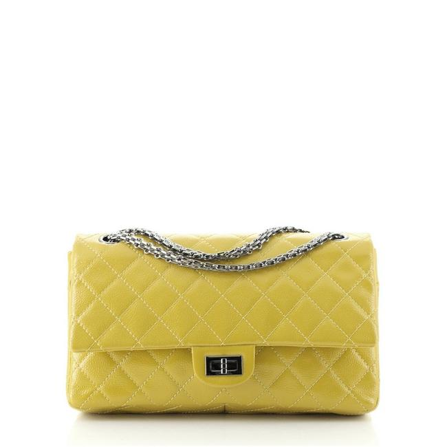 Item - Classic Flap 2.55 Reissue Reissue Quilted Caviar 226 Yellow Patent Leather Shoulder Bag