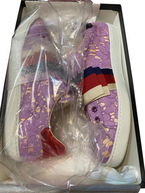 Item - Purple and Cream Ace Sneakers Size US 8.5 Regular (M, B)