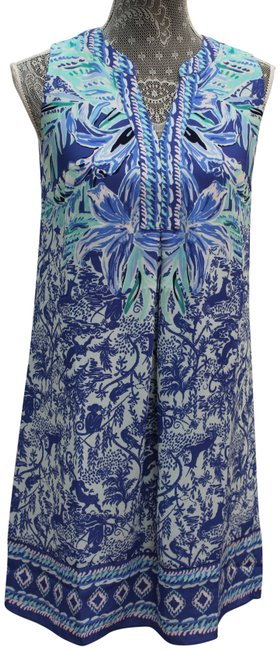 Item - Blue XS High Tide Navy Ready Set Gecko Engineered Short Casual Dress Size 2 (XS)