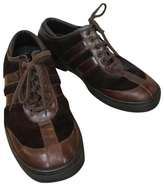 Item - Chocolate Pony Hair Lace Up Sneakers Flats Size EU 37.5 (Approx. US 7.5) Regular (M, B)