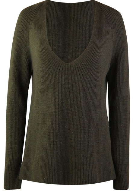 Item - V-neck Green Sweater