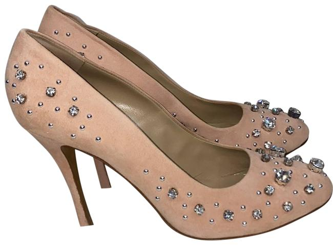 Item - Beige Cheap and Chic Crystal Embellished Pumps Size US 10 Regular (M, B)