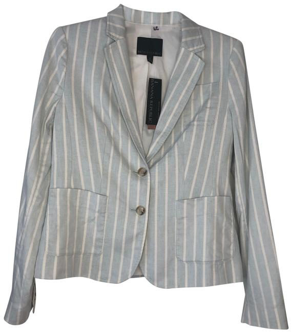 Item - Blue Striped Blazer Size 4 (S)