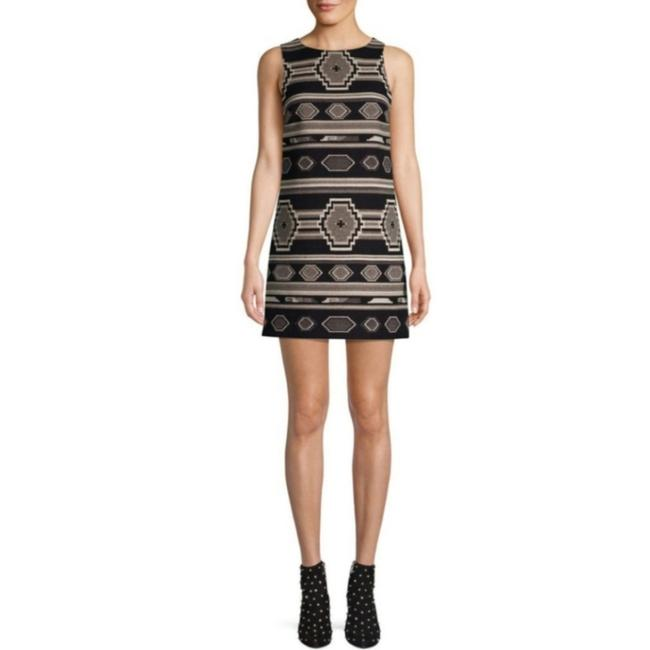 Item - Black Combo Oliviaclyde Printed Cotton Minidress Short Casual Dress Size 2 (XS)