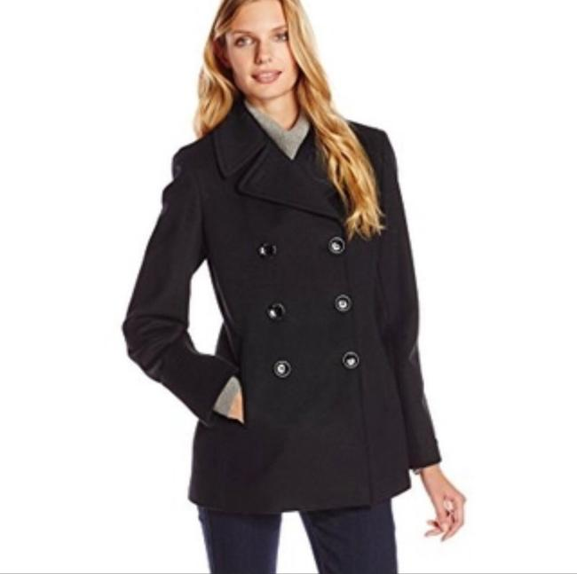 Item - Black Double Breasted Coat Size 10 (M)