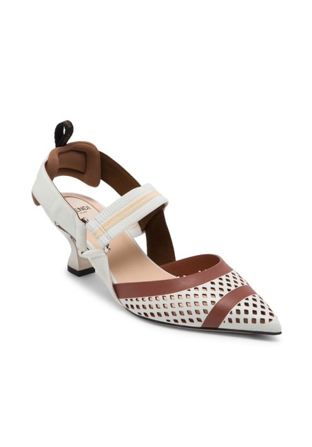 Item - Brown Colibrì Perforated Slingback Pumps Size EU 37.5 (Approx. US 7.5) Regular (M, B)