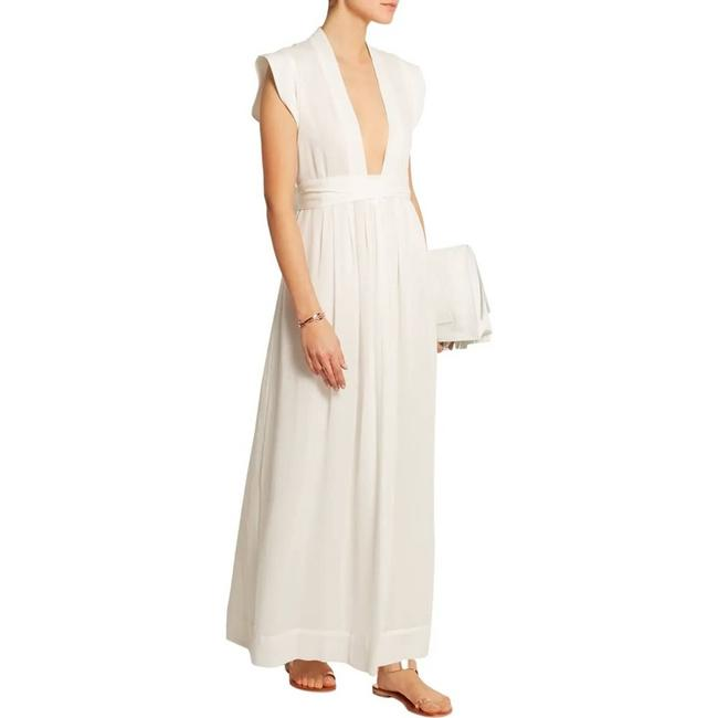 Item - White Sachi Voile 36 Casual Maxi Dress Size 4 (S)