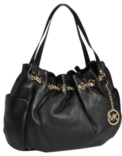 Item - Chain Black Leather Tote
