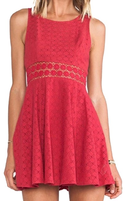 Item - Red Tibetan Waist Short Casual Dress Size 2 (XS)