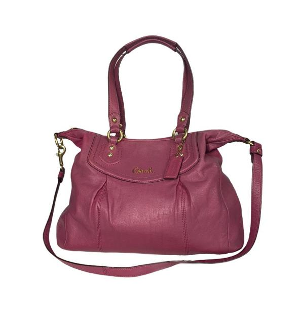 Item - Ashley Magenta Leather Satchel