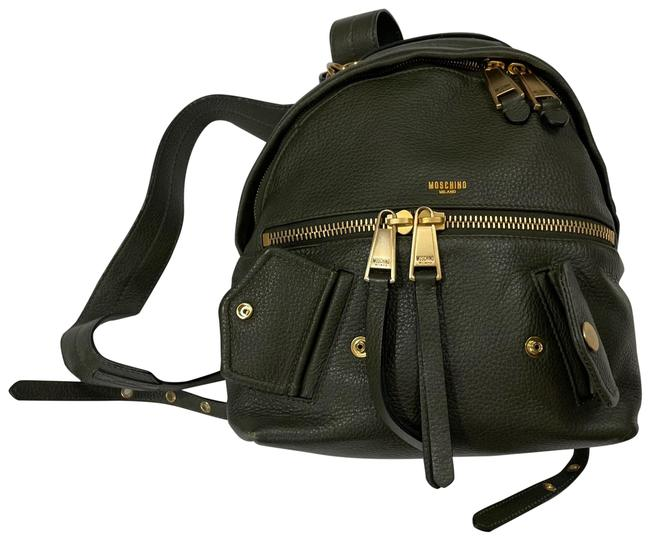 Item - Army Green Leather Backpack