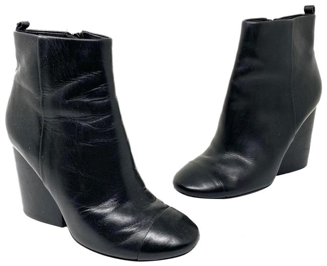 Item - Black Leather Ankle Boots/Booties Size US 6.5 Regular (M, B)