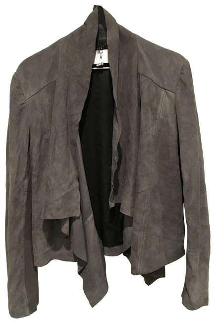 Item - Charcoal Gray Napalon Waterfall Suede (Us/8) Jacket Size 8 (M)