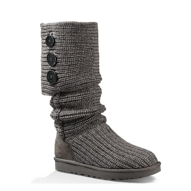 Item - Grey Classic Cardy Knit Boots/Booties Size US 8 Regular (M, B)
