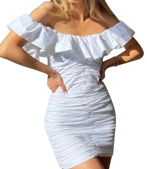 Item - White Trf Short Night Out Dress Size 22 (Plus 2x)
